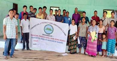 Arunachal:  APRB organised Financial Literacy Camp at Balek village