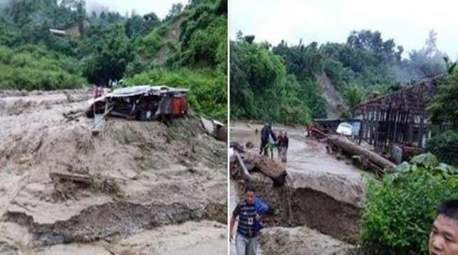 Arunachal: Flash flood, Landslide leave 3 dead, 3 missing in Itanagar