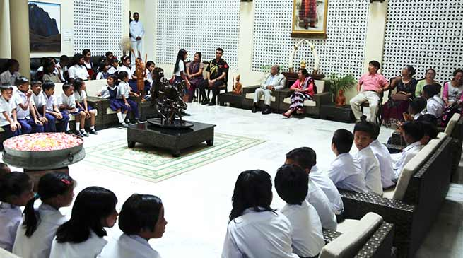 Arunacha: Governor hosts a high tea for the school children