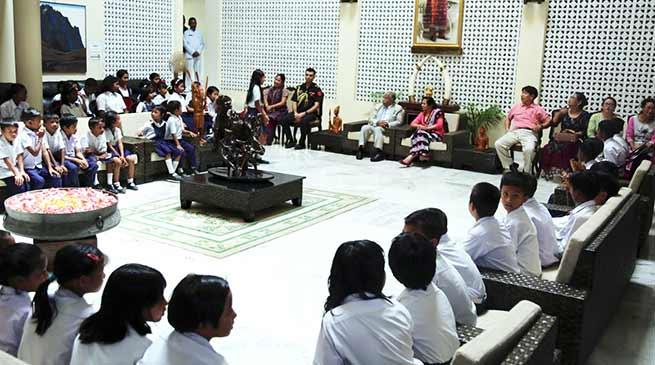 Arunacha: Governor hosts a high tea for the school children