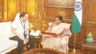 Photo of Arunachal: Nabam Rebia meet Nirmala Sitharaman in Delhi