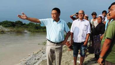 Photo of Arunachal: Ering visits flood effected villages and erosion hit sites