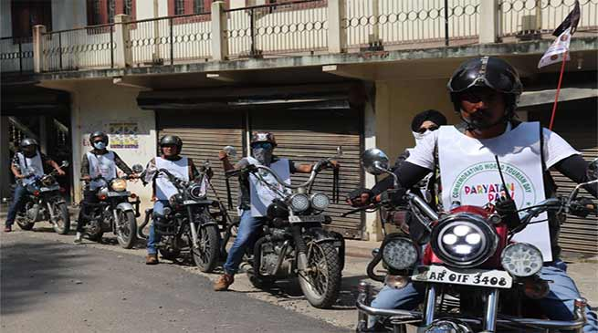 Itanagar:  Ride Arunachal Riders carried out awareness drive on Paryatan Parv