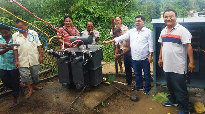 Arunachal: Rebia donated transformer for PTC family line