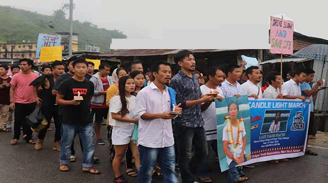 Itanagar: Gohpur hit and run case- Candle march for justice