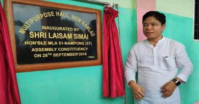 Arunachal: Laisam Simai inaugurates 3 projects in Nampong