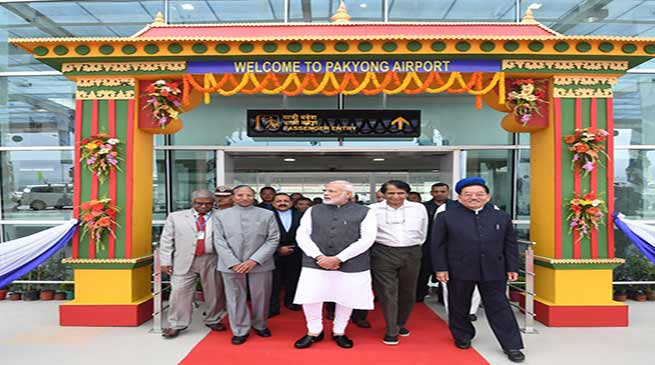 PM Modi inaugurates Pakyong Airport in Sikkim