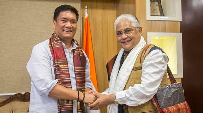 Itanagar: Chairman ASEAN India Business Council Lao PDR Chapter calls on CM Pema Khandu