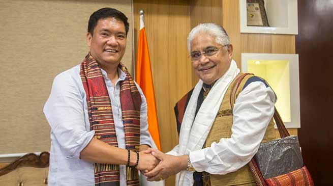 Itanagar: Chairman ASEAN India Business Council Lao PDR Chapter calls on CM Pema Khandu