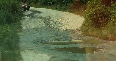 Itanagar:  A road becomes an obstacle between players and the game