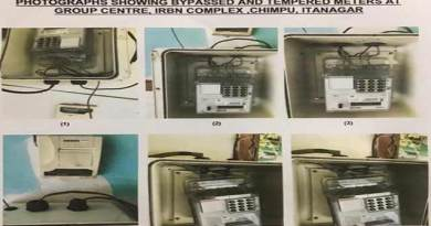 Itanagar:  One more electrician detained for tempering electricity meter