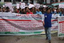 Photo of Arunachal: AAPSU carried out rally demanding ouster of Capital DC