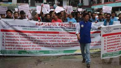 Arunachal: AAPSU carried out rally demanding ouster of Capital DC