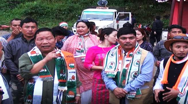 Congress mein josh, phoonka chunavi bigul -  The Congress party seems to have been revitalised after Takum Pario and Markio Tado rejoined the party