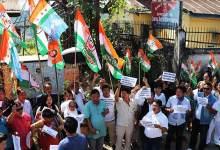 Arunachal: APCC protest outside CBI office in Itanagar