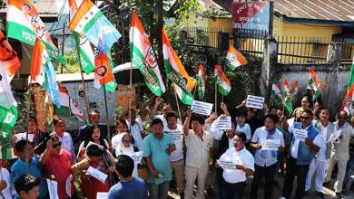 Photo of Arunachal:APCC protest outside CBI office in Itanagar