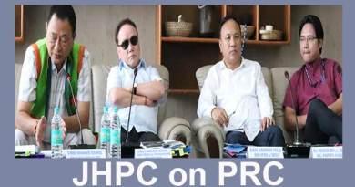 Arunachal: 3rd sitting of JHPC on PRC held