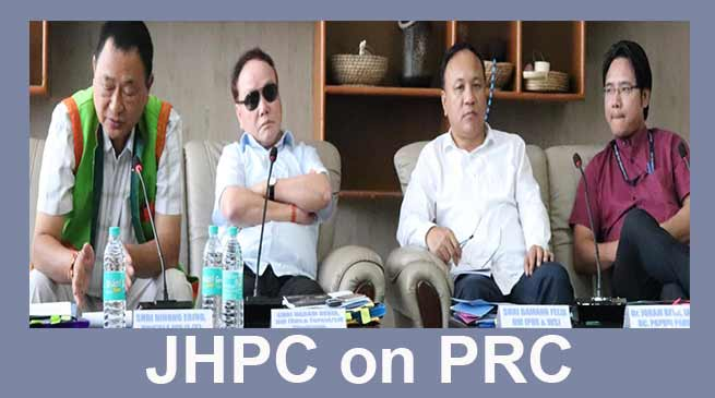 Arunachal: 3rd sitting of JHPC on PRC held