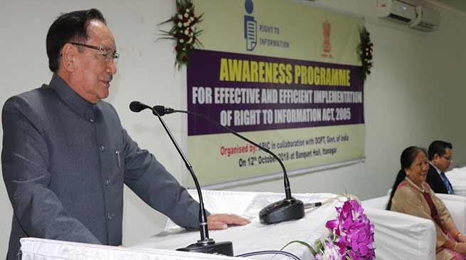 Arunachal: Do not misuse RTI Act -Dr Joram Begi