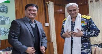Arunachal: Khandu met with Admiral Sunil Lamba