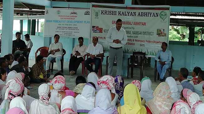 Arunachal: KVK Namsai beginsKrishi Kalyan Abhiyan phase II from Noputia