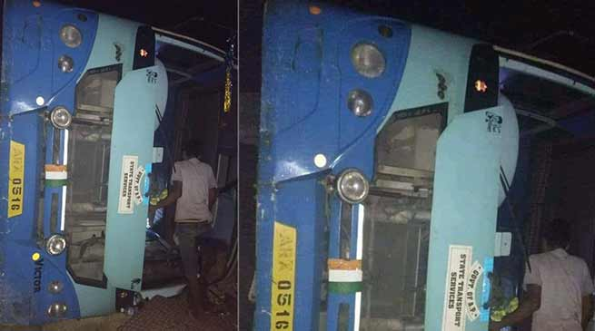 Arunachal: APST bus met with an accident, 1 died, 8 injured