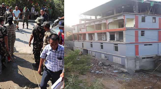 Arunachal: Eviction from Chandranagar-Papu Nallah- 4th day