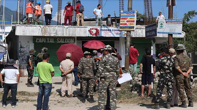 Arunachal: Eviction Drive from Chandranagar-Papu Nallah- second day