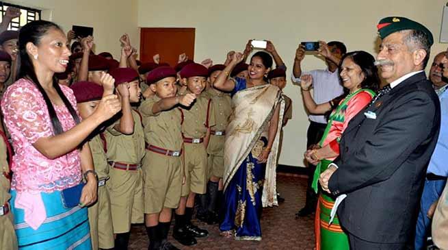 Arunachal Governor visits Sainik School, Niglok