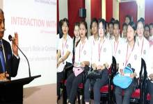 Arunachal Governor interacts with students