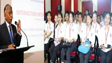 Photo of Arunachal Governor interacts with students