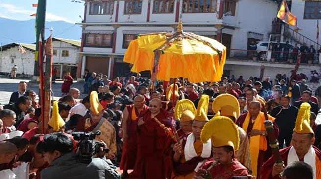 Arunachal: HE Rinpoche reaches Tawang on a week long visit