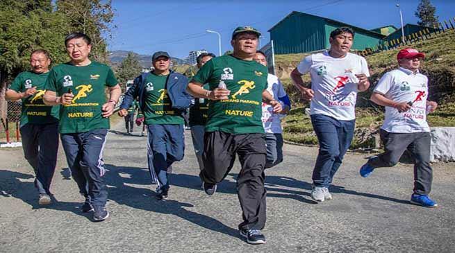 "Tawang Festival 2018- Khandu takes part in ""Run for Nature"""