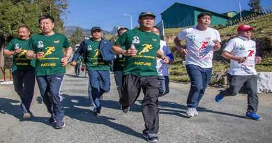 "Tawang Festival 2018- Khandu takes part in ""Run for Nature"""
