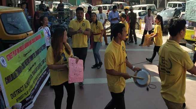Itanagar: Street play for 'save child'
