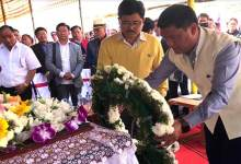 Photo of Arunachal CM attends funeral of late Nabam Runghi