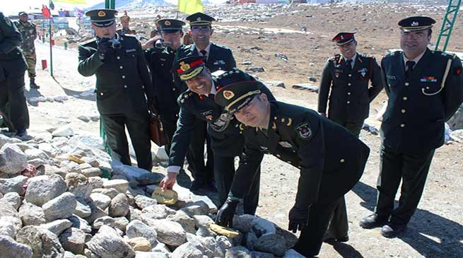 Arunachal: First ever Maj Gen level BPM between Indian and Chinese Army held at Bumla