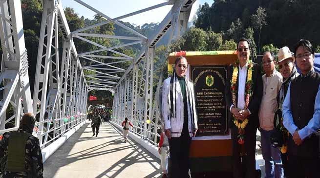 Arunachal: Mein inaugurates Steel Girder Bridge over river Panior