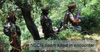 Arunachal:  NSCN cadre killed in encounter
