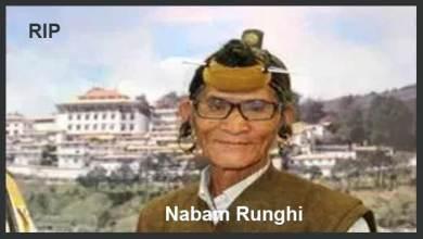 Photo of Arunachal:Architect of Itanagar Nabam Runghi passes away