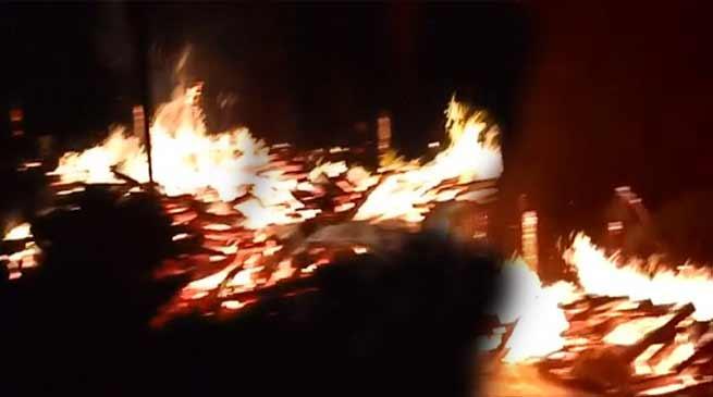Arunachal: 8 houses burn down at Mongku village in Pasighat