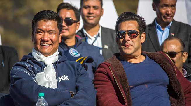 Salman Khan promises to shoot for his upcoming film in Arunachal