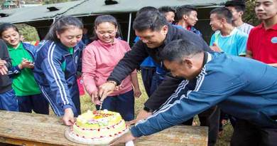 Pema Khandu celebrates Children's Day with Students Tawang Public School