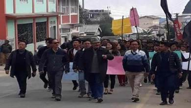 Photo of Arunachal:Protest March in Bomdila, public demand withdrawal of Arunachal Scouts