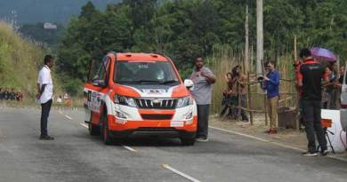 Gaurav Gill emerged victorious at the opening day of Rally of Arunachal from  Chimpu to  Hollongi near Itanagar.