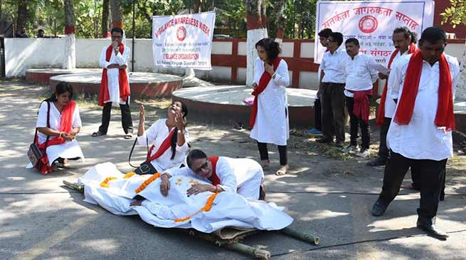 Assam: Railway employees stages street play to observes Vigilance Awareness Week
