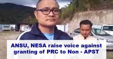 Arunachal: ANSU, NESA raise voice against granting of PRC to Non- APST