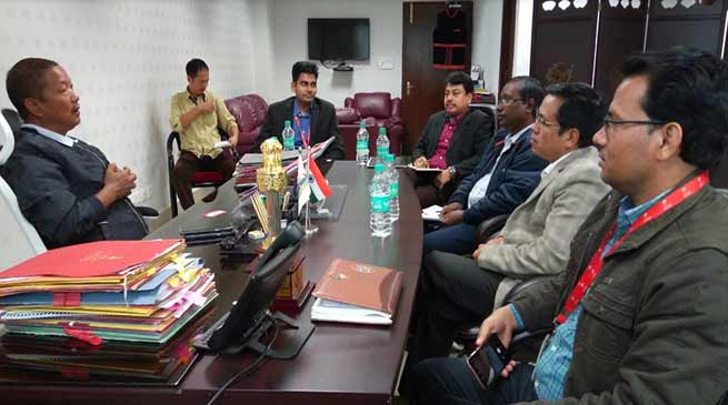 Itanagar: Felix request telecom players to improve digital connectivity in the state