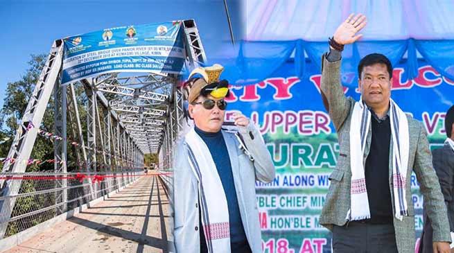 Arunachal: Khandu inaugurates steell bridge over Panyor River at Komasaki