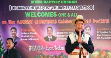 Arunachal: Khandu advent Christmas celebration at Meka Baptist Church